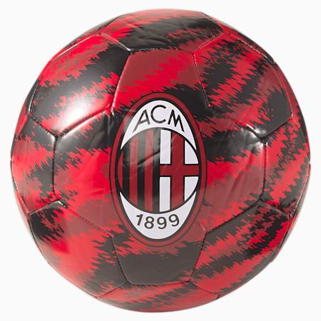 Balón de fútbol de entrenamiento del ACM Iconic Big Cat, Puma Black-Tango Red, small