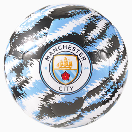Man City Iconic Big Cat Football, Puma Black-Team Light Blue, small