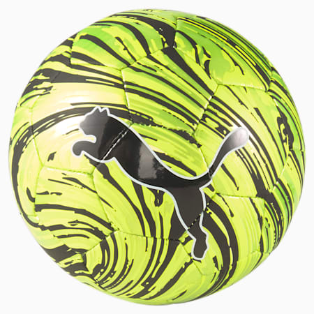 Mini pelota PUMA Shock, Yellow Alert-Puma Black, pequeño