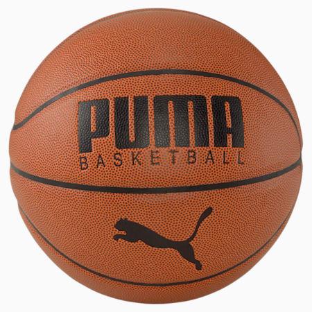 Piłka do koszykówki PUMA Basketball Top, Leather Brown-Puma Black, small