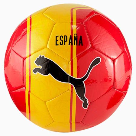 Pallone da calcio per allenamento senza licenza, Puma Red-Spectra Yellow, small