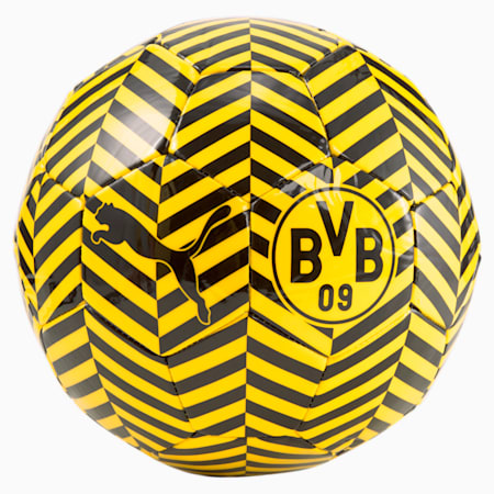 Ballon de foot d'entraînement de supporter BVB FtblCore, Puma Black-Puma Black-Cyber Yellow, small