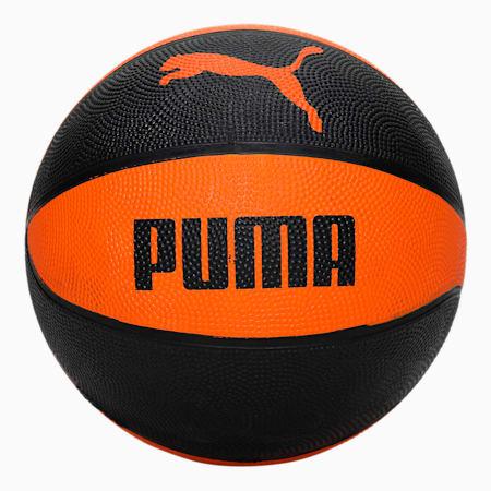 PUMA Indoor Unisex Basketball Shoes, Mandarin Orange-Puma Black, small-IND