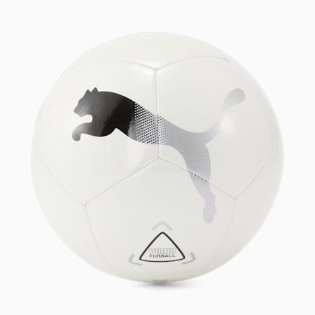 Ícono del fútbol, White-Black-Metallic Silver, pequeño