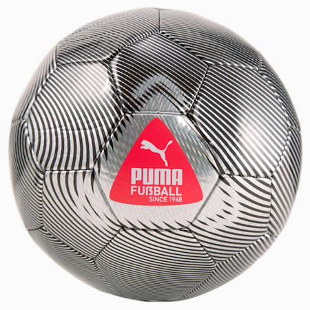 FUßBALL Cage Football, Metallic Silver-Sunblaze-Puma Black, small