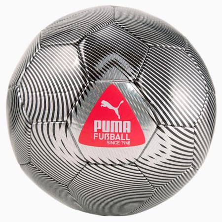 Piłka FUßBALL Cage, Metallic Silver-Sunblaze-Puma Black, small