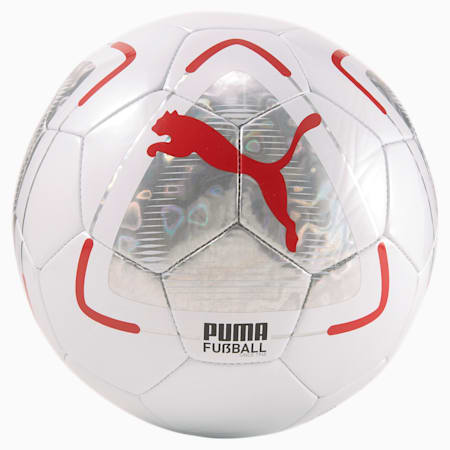 FUßBALL Park Football, Puma White-Elektro Aqua-Sunblaze, small