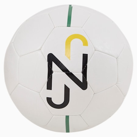 Neymar Jr Fan Ball, Puma White-Puma Black-Dandelion-Amazon Green, small