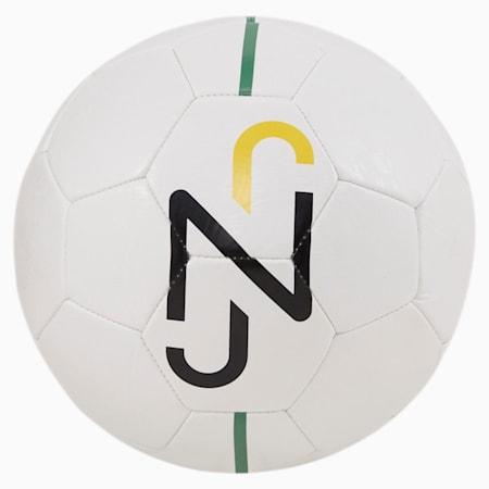 Treningowa piłka nożna Neymar Jr Fan, Puma White-Puma Black-Dandelion-Amazon Green, small