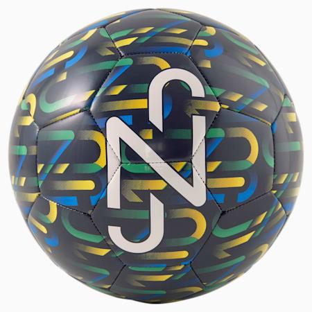 Neymar Jr  Graphic Ball, Peacoat-Dandelion-Jelly Bean-Puma White, small