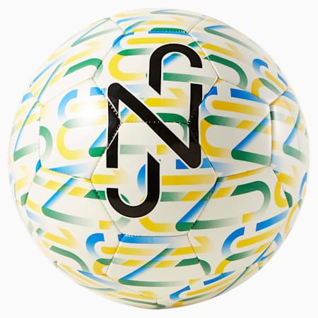 Neymar Jr  Graphic Ball, Puma White-Dandelion-Amazon Green-Puma Black, small