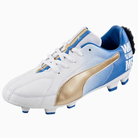 MB 9 FG Jr. Football Boots, white-team gold-Power Blue, small-IND