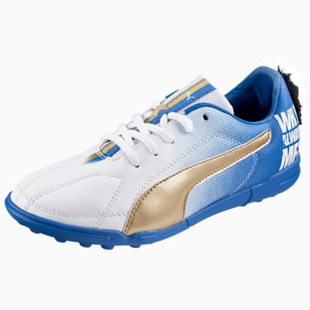 MB 9 TT Jr. Football Boots, whit-whit-blue-gold, small-IND