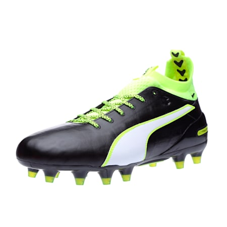 evoTOUCH 1 FG Men's Football Boots, black-white-safety yellow, small-IND