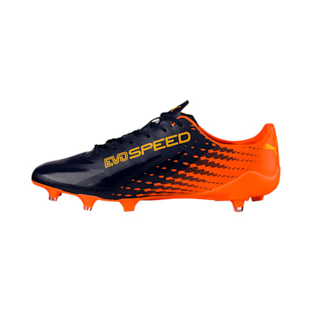 evoSPEED 17 SL-S FG Men's Football Boots, YELLOW-Peacoat-Orange, small-IND