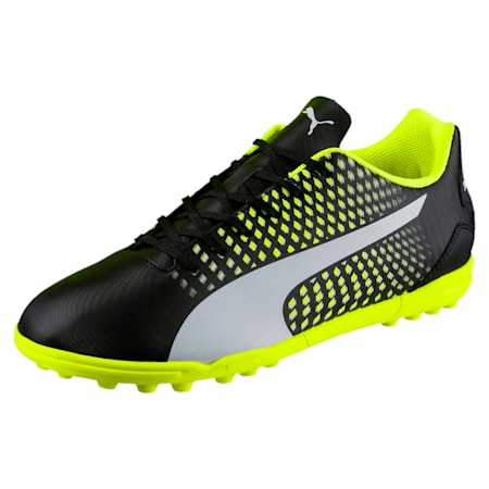 Adreno III TT Men's Football Boots, Black-White-Yellow, small-IND