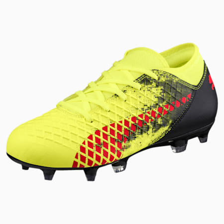 FUTURE 18.4 FG/AG Soccer Cleats JR, Yellow-Red-Black, small