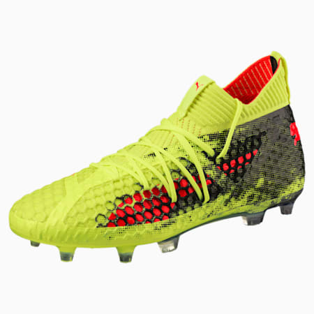 FUTURE 18.1 NETFIT FG/AG Men's Soccer Cleats, Yellow-Red-Black, small