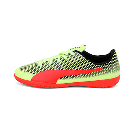 PUMA Spirit IT Jr Shoes, Yellow-Red-Black, small-IND