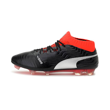 ONE 18.1 FG Men's Football Boots, Black-Silver-Red, small-IND