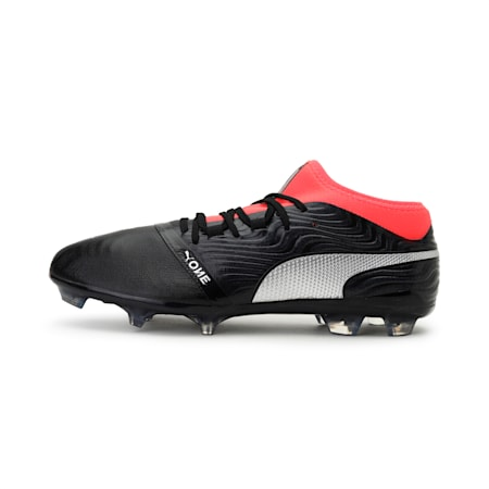 ONE 18.2 FG Men's Football Boots, Black-Silver-Red, small-IND