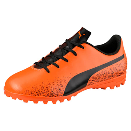 Truora TT Kids' Football Boots, Orange-Black-Cordovan, small-IND