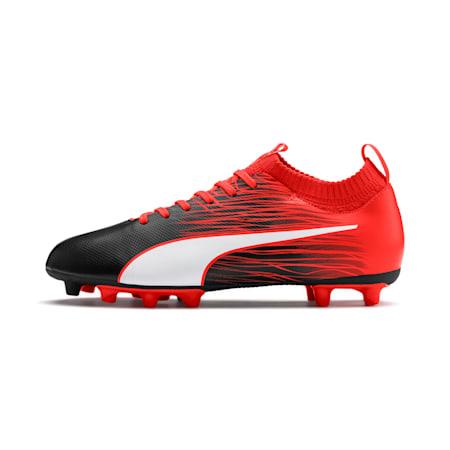 evoKNIT FTB II FG Men's Football Boots, Black-Puma White-Nrgy Red, small-IND