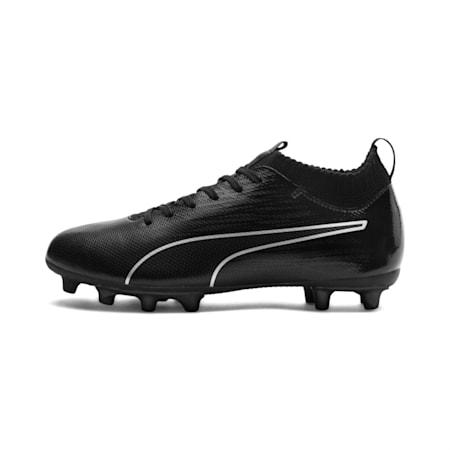 evoKNIT FTB II Youth Football Boots, Black-Black-Silver, small-IND