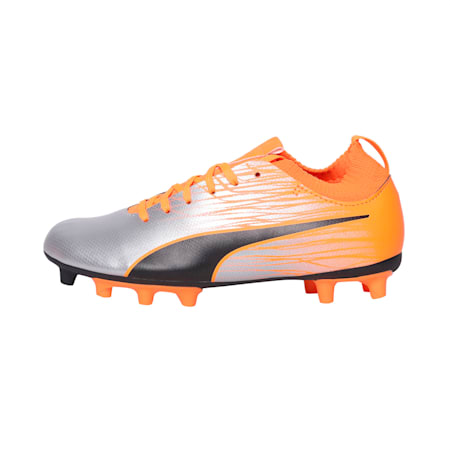 evoKNIT FTB II Youth Football Boots, Silver-Orange-Black, small-IND