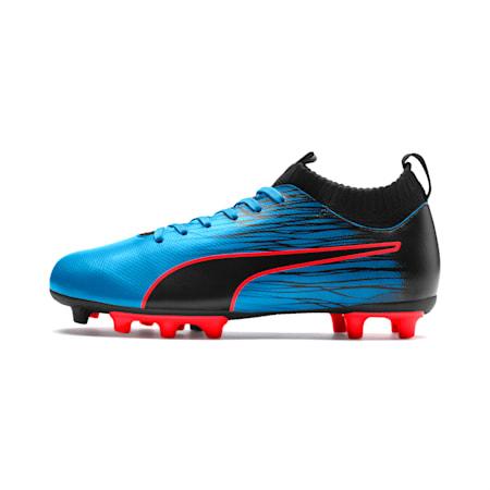 evoKNIT FTB II Youth Football Boots, Bleu Azur-Red Blast-Black, small-SEA