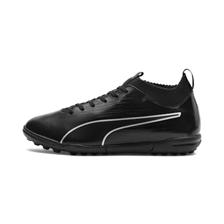 evoKNIT FTB II Youth Football Boots, Black-Black-Silver, small-IND