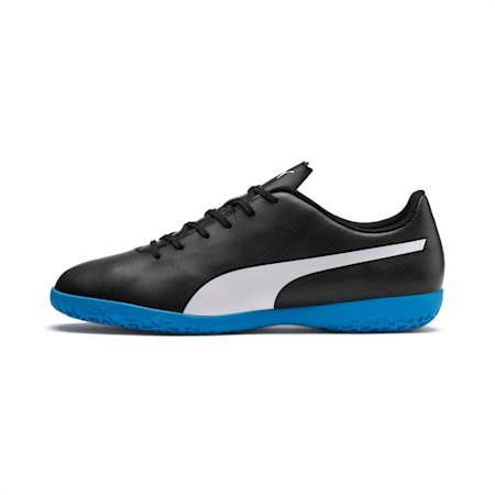 Rapido IT Men's Football Boots, Black-White-Iron Gate-Bleu, small-IND