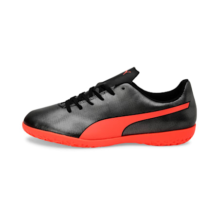 Rapido IT Men's Football Boots, Black-Nrgy Red-Aged Silver, small-IND