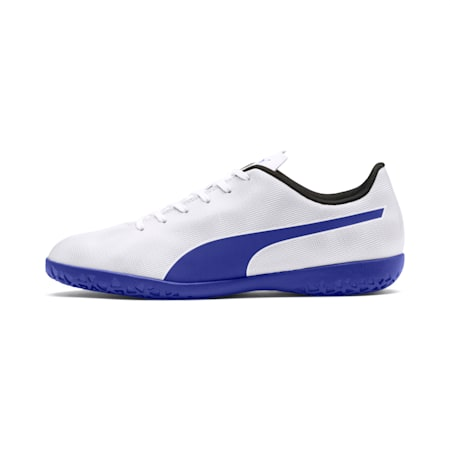 Rapido IT Men's Soccer Shoes, White-Royal Blue-Light Gray, small