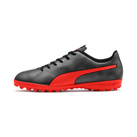 Rapido TT Men's Football Boots, Black-Nrgy Red-Aged Silver, small-IND
