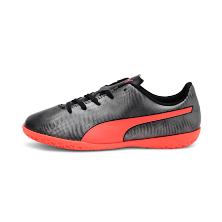 Rapido IT Youth Football Boots, Black-Nrgy Red-Aged Silver, small-IND