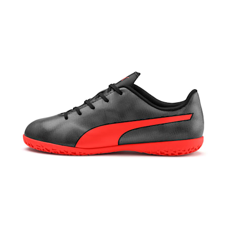 Rapido IT Boy's Soccer Shoes JR, Black-Nrgy Red-Aged Silver, small
