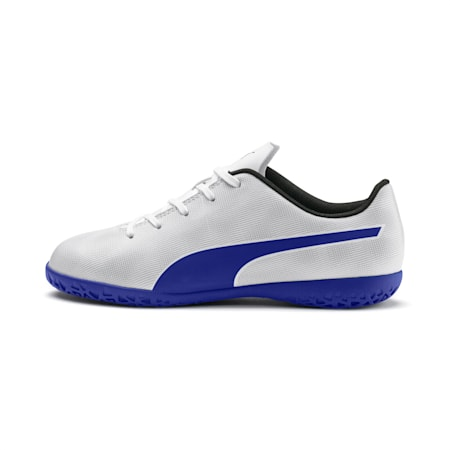 Rapido IT Boy's Soccer Shoes JR, White-Royal Blue-Light Gray, small