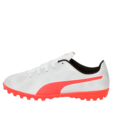 Rapido TT Youth Football Boots, White-Gray-Black-Red Blast, small-IND