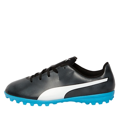 Rapido TT Youth Football Boots, Black-White-Iron Gate-Bleu, small-IND