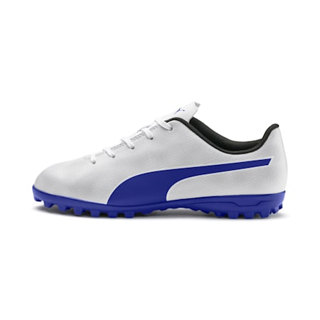 Rapido TT Youth Football Boots, White-Royal Blue-Light Gray, small-IND