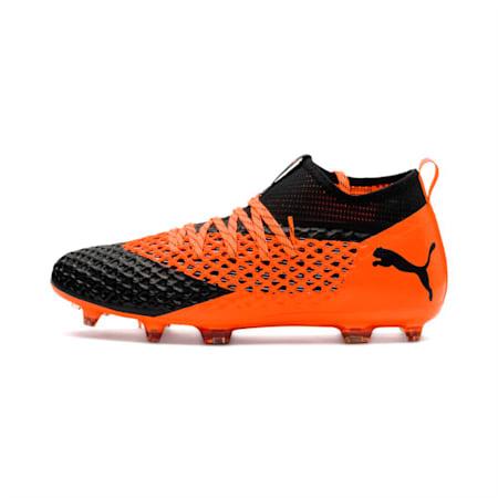 FUTURE 2.2 NETFIT FG/AG  Football Boots, Black-Orange, small-IND