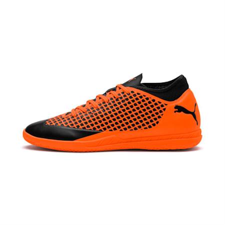 FUTURE 2.4 IT  Football Shoes, Black-Orange, small-IND
