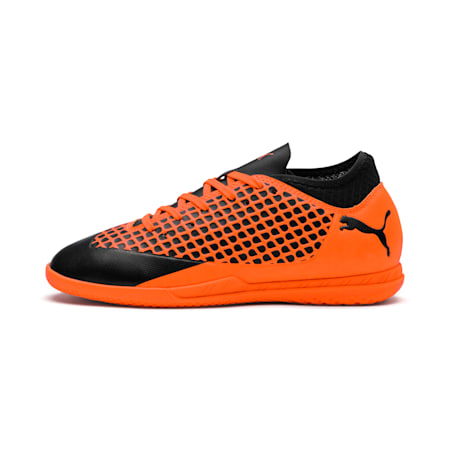 FUTURE 2.4 IT Kids' Football Shoes, Black-Orange, small-IND