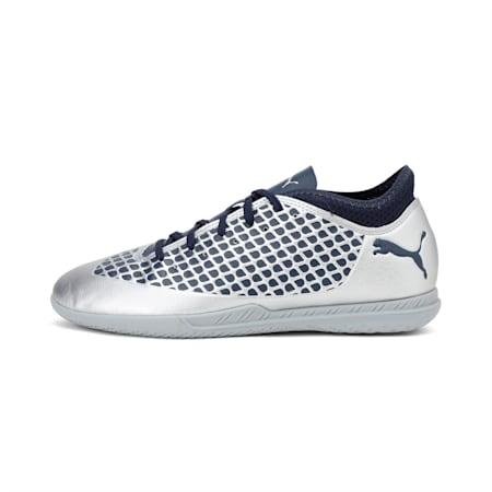 FUTURE 2.4 IT Kids' Football Shoes, Puma Silver-Peacoat, small-IND