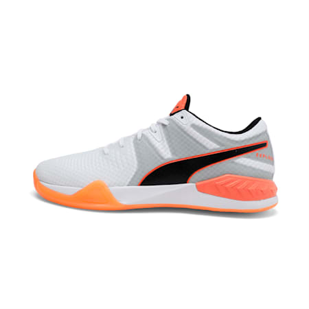 Explode 1 Men's Indoor Training Shoes, White-Quarry-Orange, small-IND
