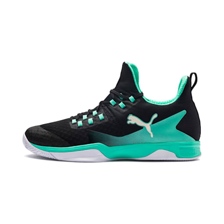 Rise XT 3 Indoor Teamsport Shoes, Black-Green-White, small-IND