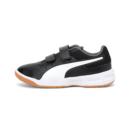 Tenaz V Youth Shoes, Black-White-Iron Gate-Gum, small-IND
