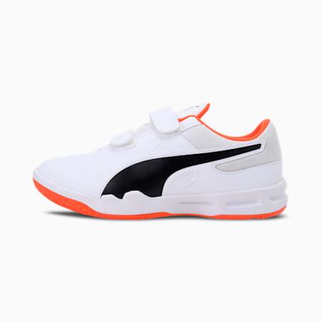 Tenaz V Kid's Shoes, White-Black-Orange, small-IND