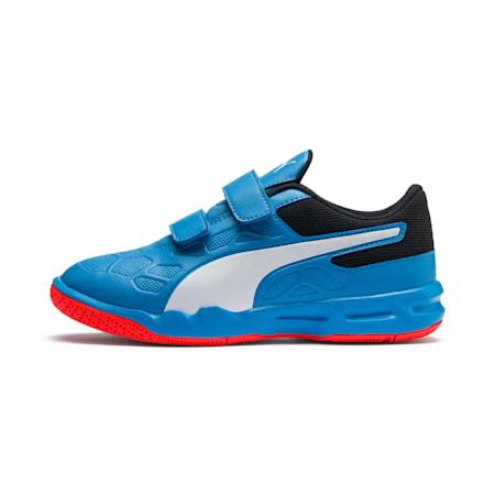 Tenaz V Kid's Shoes, Bleu Azur-White-Black-Red, small-IND
